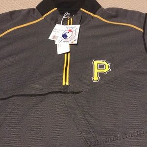 1/4 Zip Pittsburgh Pirates Long Sleeve Top